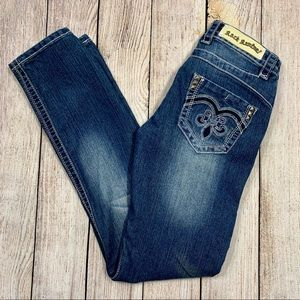 Rock Revival   Distressed John Straight Fit Jeans
